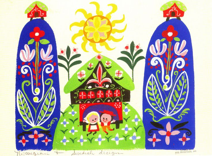 mary blair --it's a small world--norway sweden