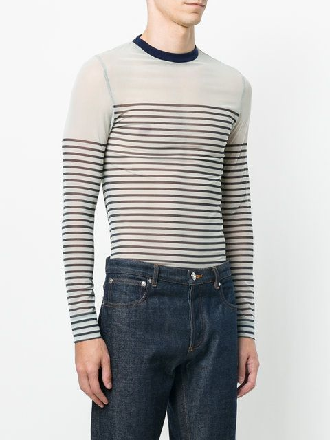 5b0539e9931f Jean Paul Gaultier Vintage sheer longsleeved T-shirt   Jean Paul Gaultier    Pinterest   Jean paul gaultier, Men s jeans and Clothes