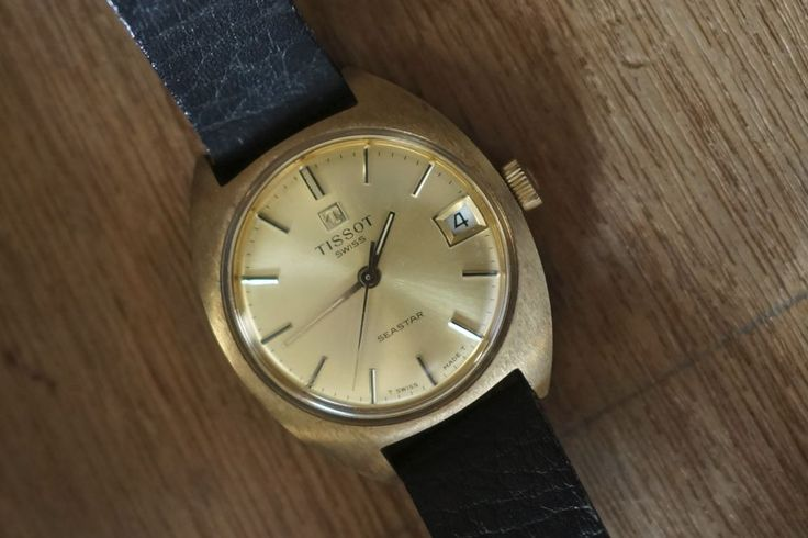 Tissot Seastar Hand Wind Swiss Made with date Vintage Wristwatch #Tissot #Vintage
