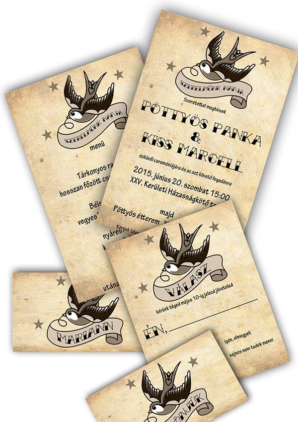 Rockabilly wedding invitations on Behance