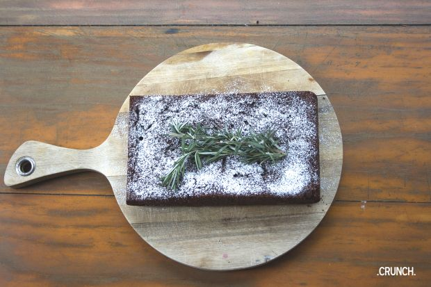 Gluten Free Rosemary & Chocolate Brownie #glutenfree #recipe #brownie #chocolate
