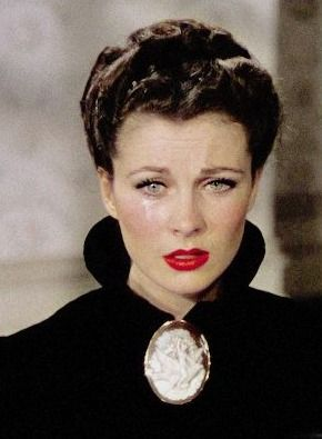 "Vivien Leigh as Scarlett O'Hara Butler after Melanie's death and Rhett has walked out in 'Gone With The Wind'. ""Oh, I can't let him go! I can't! There must be some way to bring him back. I can't think about this now. I'll go crazy if I do! I'll think about it tomorrow."""