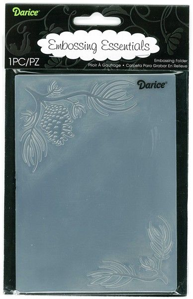 """4.25"""" X 5.75"""" Embossing Folder - Pine Branches in Corner Crafters Companion $4.95"""