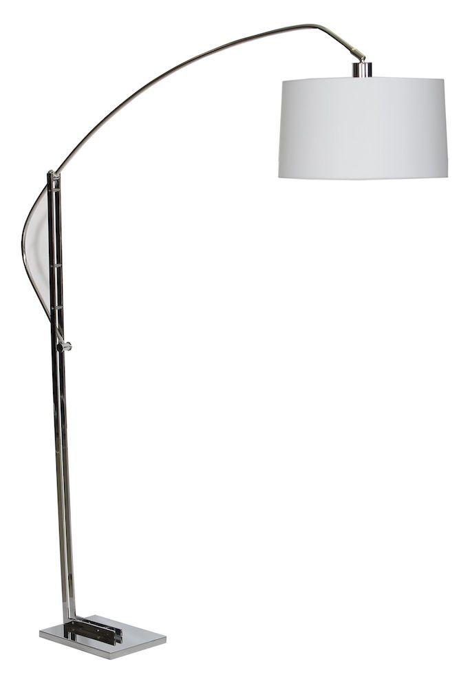 Lámpara con pantalla blanca