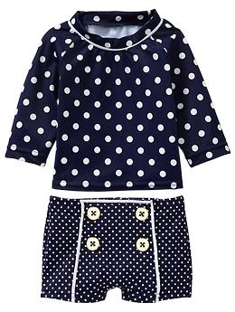 Dot rashguard two-piece | Gap   the girls need this for Charleston!!