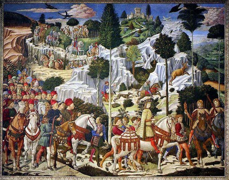Journey of the Magi, at the Palazzo Medici Riccardi in Florence, Benozzo Gozzoli, (1459–61)