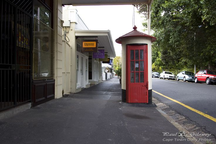 "The famous public phone booth or ""tickey box"" as we used to call it. This one situated near Maynardville in Wynberg."