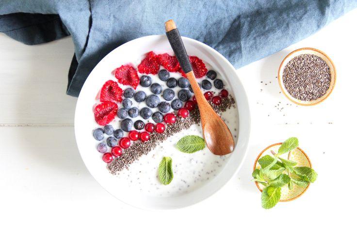smoothie aux fruits rouges et graines de chia recette. Black Bedroom Furniture Sets. Home Design Ideas