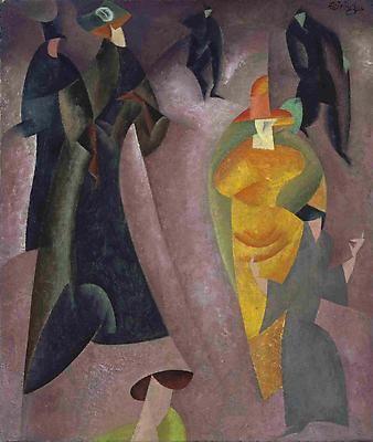 Nighthawks, 1921 ~ Lyonel Feininger (German-American, 1871 – 1956)