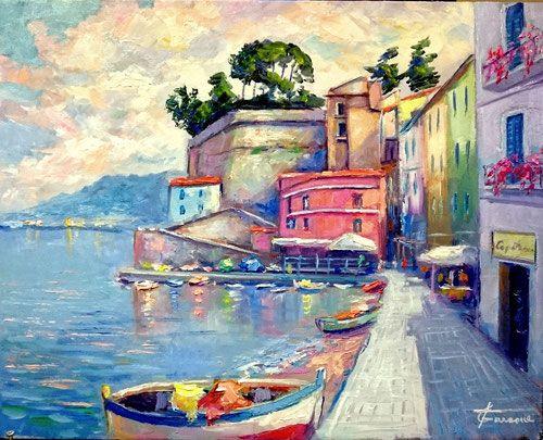 """""""Via del Mare Sorrento"""" olio su tela 50x40 Codice 256"""