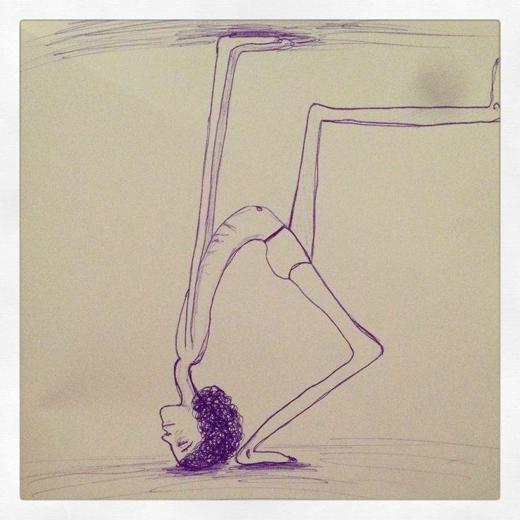 Sketch: Flexible man.