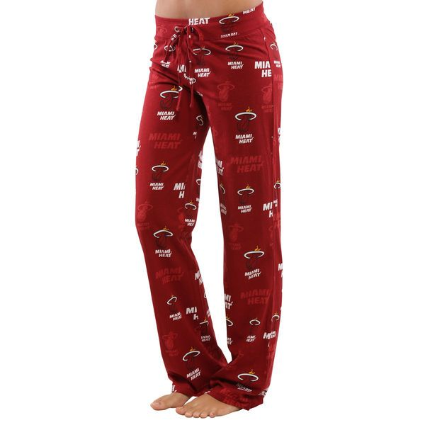 Miami Heat Women's Insider Printed Knit Pants - Red - $29.99