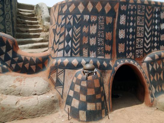 The Tiebele House Decorations Of Burkina Faso Africa