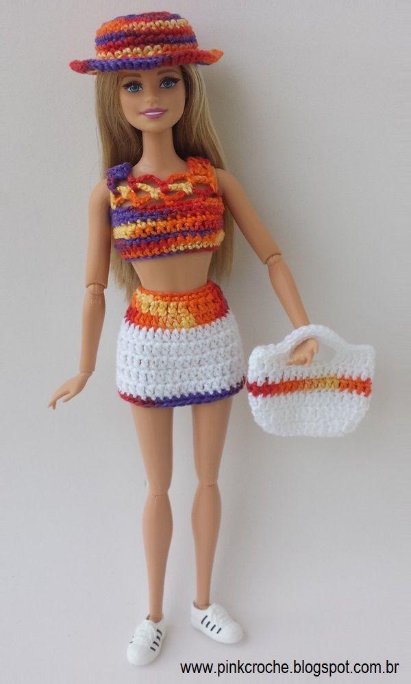 Lujoso Los Patrones De Ganchillo Ropa De Muñecas Barbie Elaboración ...