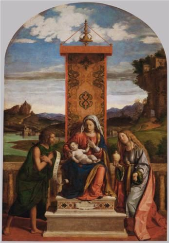 Cima da Conegliano, Madonna and Child with St. John the Baptist and Mary Magdalene, c. 1512