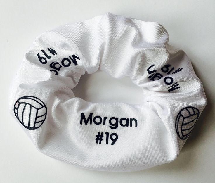 Custom Personalized Volleyball Hair Scrunchie YOU CHOOSE COLORS ribbon bow