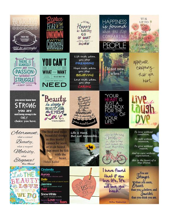 Inspirational Quotes II Stickers for Erin Condren Life Planner PDF file