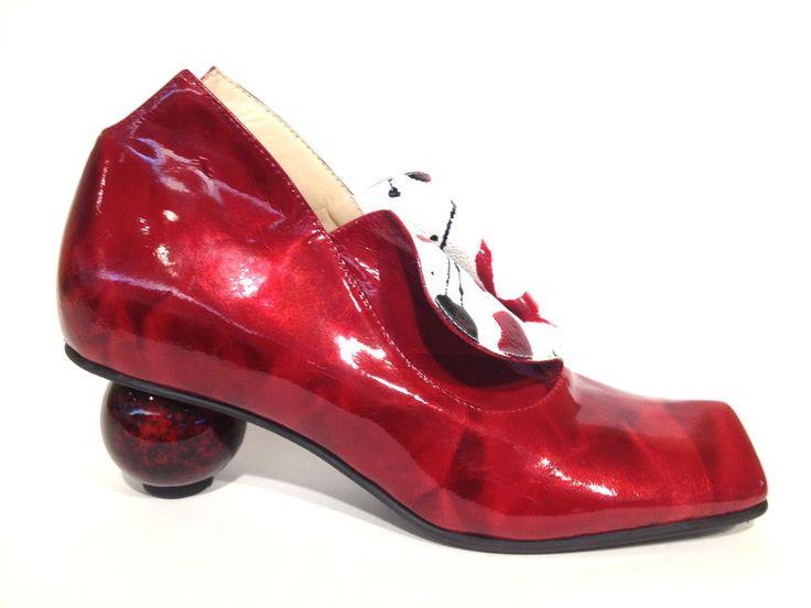 LISA TUCCI extravagante Schuhe Pumps Halbschuhe Damenschuhe rot red leather shoe