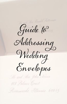 CT-Designs Calligraphy and Wedding Stationery: Guide for Addressing Wedding Envelopes