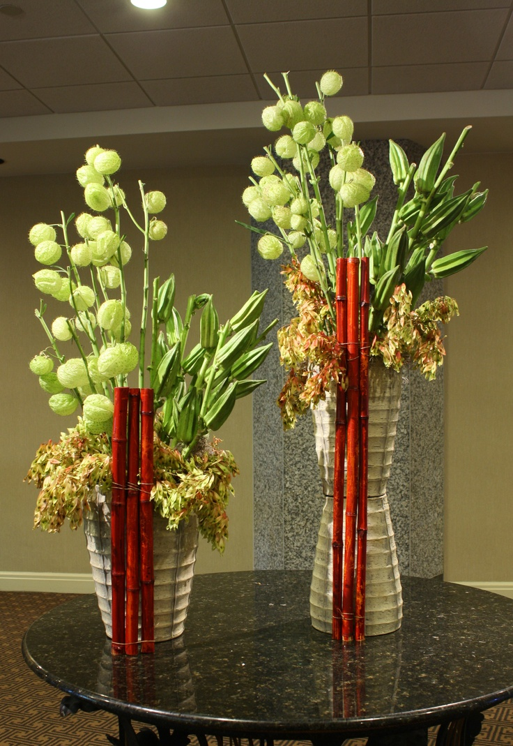 8 best floral arrangements with bamboo images on pinterest