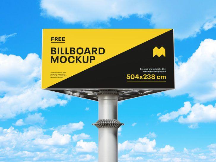 Free Triangular Billboard Mockup Psd Set Psfiles Billboard Mockup Billboard Mockup Psd