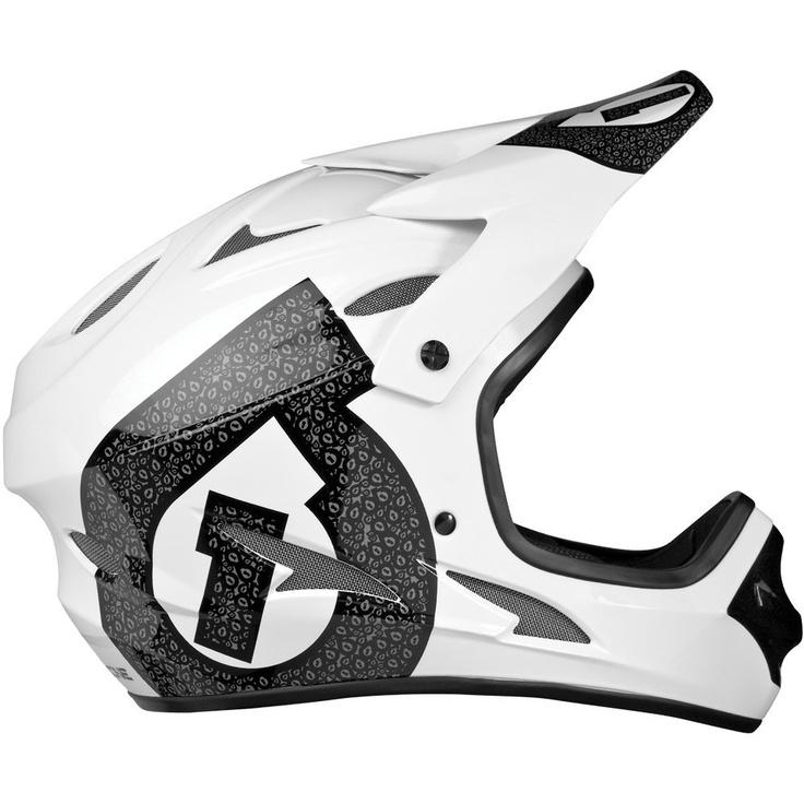 SixSixOne Comp Shifted Men's All-Terrain Bicycle Helmet - http://downhill.cybermarket24.com/sixsixone-comp-shifted-mens-allterrain-bicycle-helmet-whiteblack/