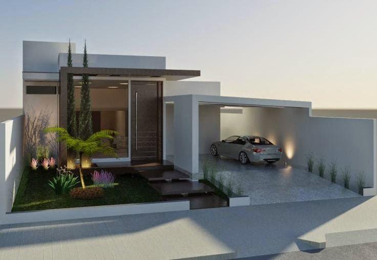 Decor Salteado - Blog de Decoração | Design | Arquitetura | Paisagismo: Fachadas de Casas Térreas – veja 20 modelos modernos e bonitos!