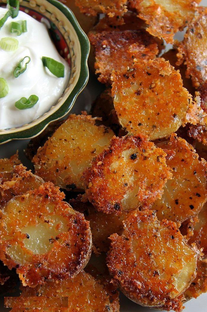 Crispy Crunchy Parmesan Potatoes ♥ ONLY 1 Point