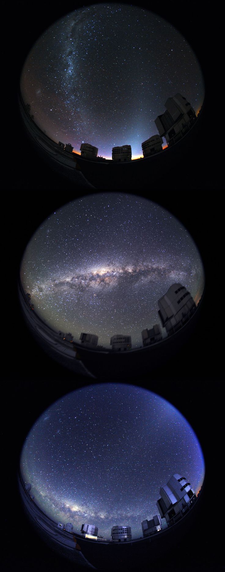 The Milky way in the sky of Cerro Paranal, from twilight to dawn... (credit: S.Brunier/ESO)