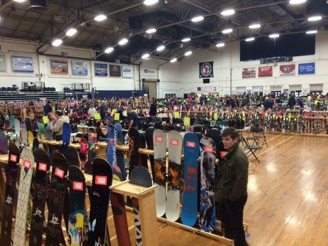 Ski enthusiasts flock to ski sale #ski