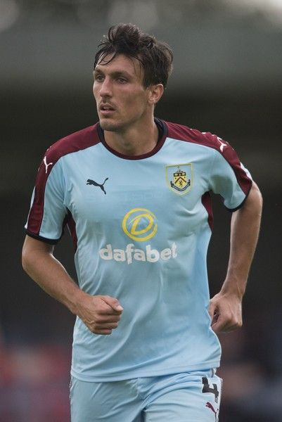 Jack Cork of Burnley looks on during a pre season friendly match between Kidderminster Harriers and Burnley at Aggborough Stadium on July 22, 2017 in Kidderminster, England.