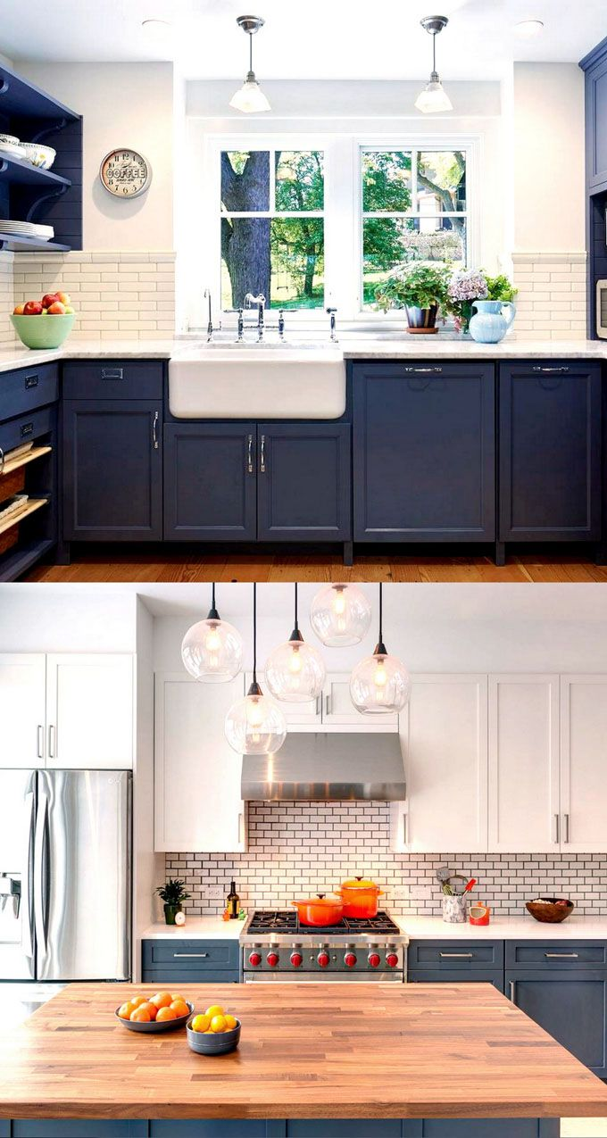 Blue kitchen colors with white cabinets - 25 Gorgeous Paint Colors For Kitchen Cabinets And Beyond