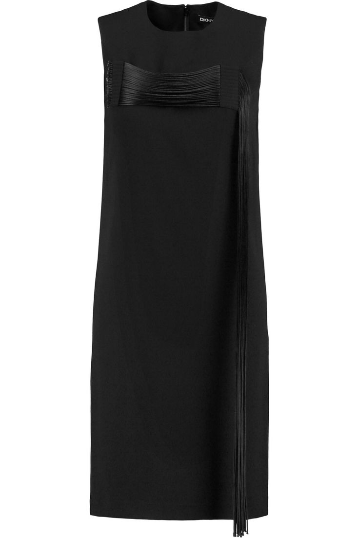 DKNY FRINGED CREPE DRESS GBP142.50 http://www.theoutnet.com/product/883648