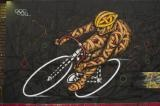 Graffiti by Otto Schade of Olympic cyclist
