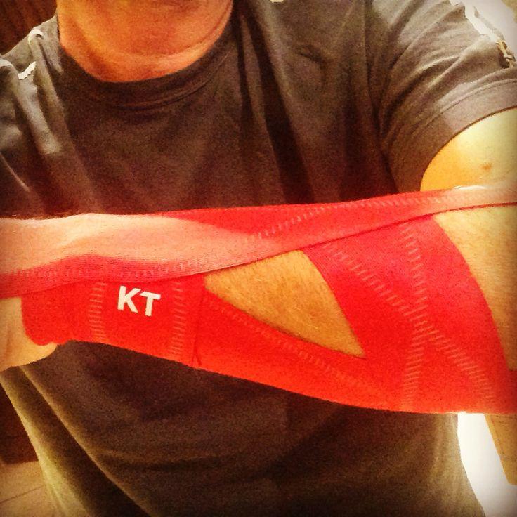 4 strip KT Tape app for flexor carpi ulnaris muscle strain ...