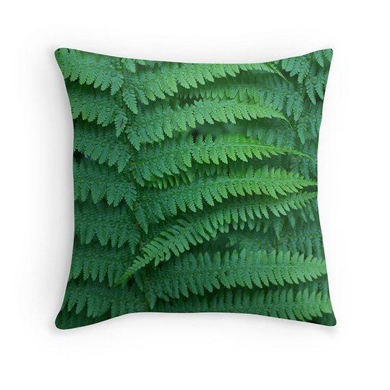 Fern pillow fern cushion green pillow green by SophieMakesFabrics