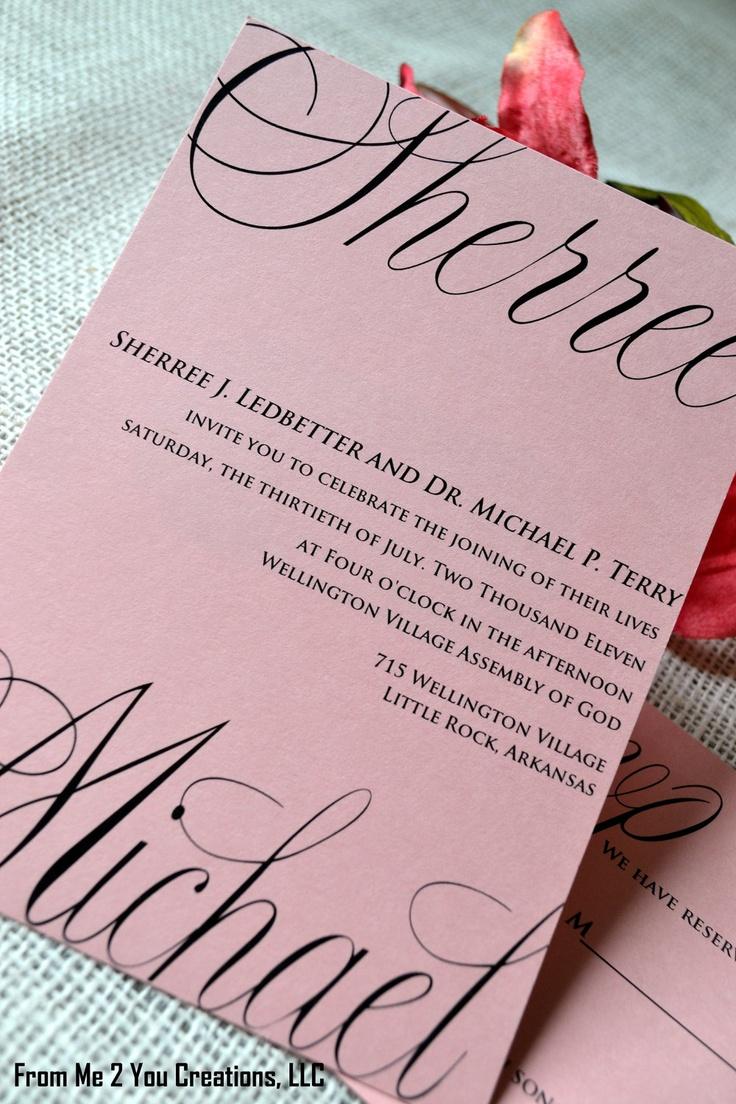 22 best Wedding invitations images on Pinterest | Wedding ...