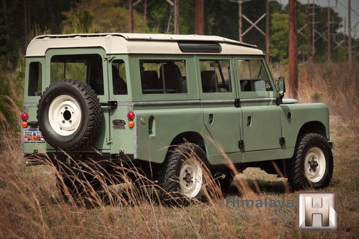 "1967 Land Rover 109 SIIA ... ""extensively modified with Discovery axles, four wheel discs and a 4.0L V8/automatic Rover drivetrain."" Very nice Rover."