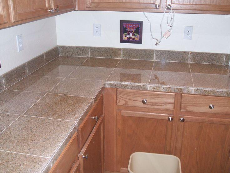 Floor Tile Edging Options: Countertop-1 (I DO NOT LIKE THIS EDGE