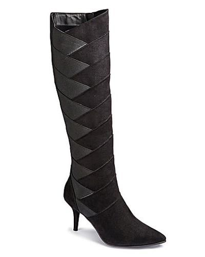 Sole Diva Stretch Detail Boot EEE Fit | Fashion World #covetme