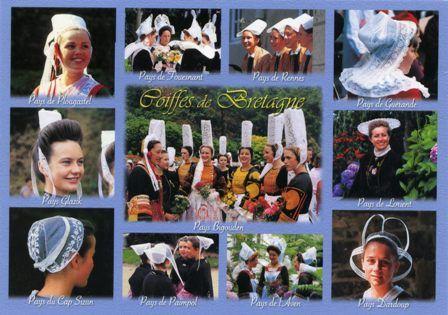 France traditional dress PC Plougastel-Daoulas, Giz Fouen (Fouesnant), Rennes, Guerande, Glazig, Bigouden, Lorient, Cap Sizun, Tregor (Paimpol), Giz Fouen (Pont Aven), Rouzig (Dardoup)