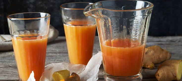 Citrusshot med ingefära och gurkmeja