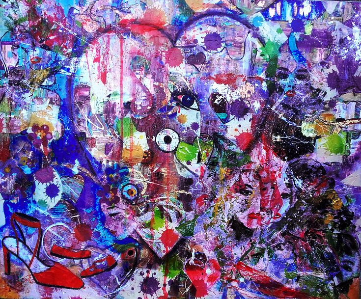 acrilico e collage su tela 60x50 by M.Cristina De Amicis