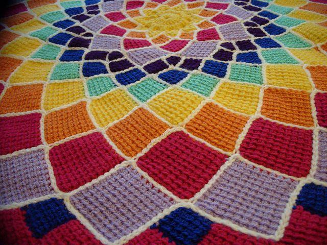 Mejores 85 imágenes de manta punto tunecino en Pinterest   Crochet ...
