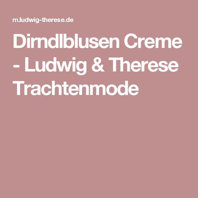 Dirndlblusen Creme - Ludwig & Therese Trachtenmode