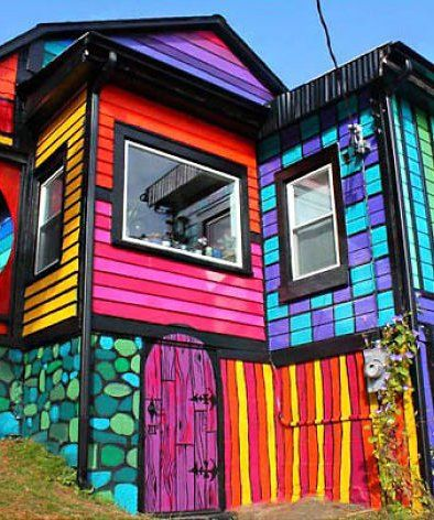 The World's Most Colorful Houses - mom.me