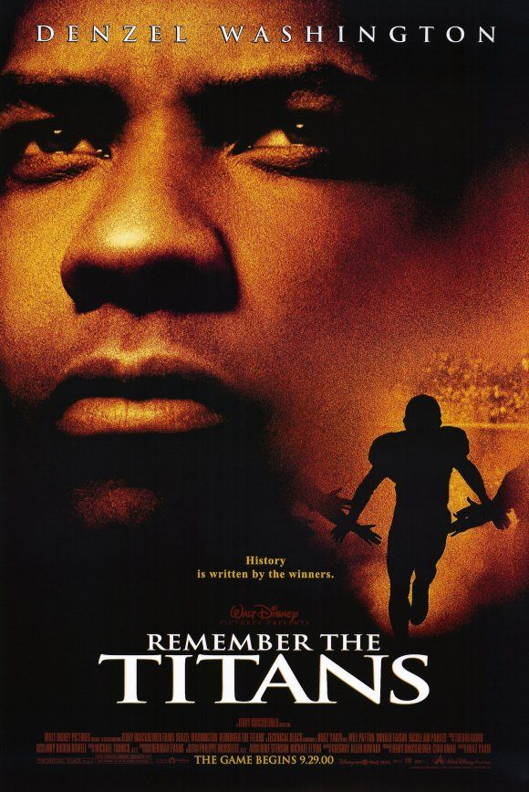 Remember the Titans (2000) The true story of a newly appointed African-American coach and his high school team on their first season as a racially integrated unit.  #movie