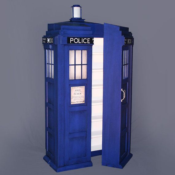 tardis cabinet police box doctor who 45 x 2 - Dr Who Bedroom Ideas