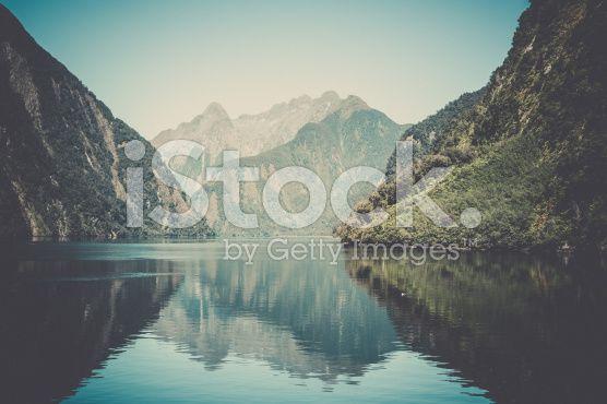 Milford Sound Landscape, South Island, New Zealand royalty-free stock photo