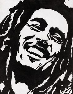 famous people Stencil | Bob Marley Stencil by MexicanDrunk